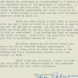 Letter : 1938 March 3
