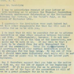 Letter : 1940 August 3