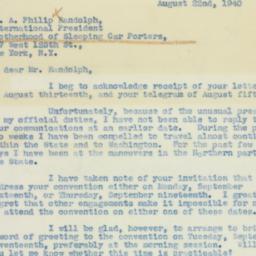 Letter : 1940 August 22