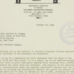 Letter : 1941 October 23