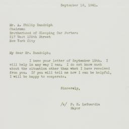 Letter : 1941 September 18