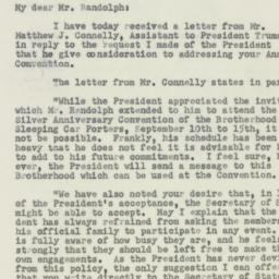 Letter : 1950 August 19