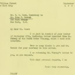 Letter : 1929 September 20