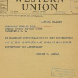 Telegram : 1938 January 28