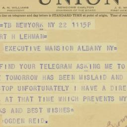 Telegram : 1941 January 22