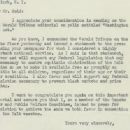 Letter : 1955 May 3