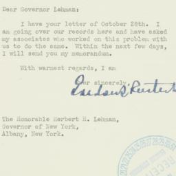 Letter : 1939 November 8