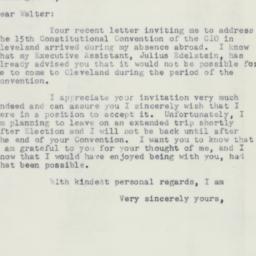 Letter : 1953 October 20