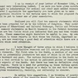 Letter : 1950 November 28