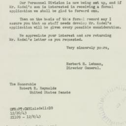 Letter : 1943 December 23