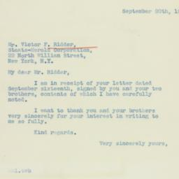 Letter : 1938 September 20