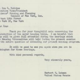Letter : 1956 February 22