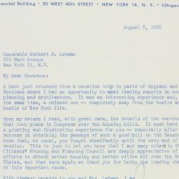Letter : 1956 August 8