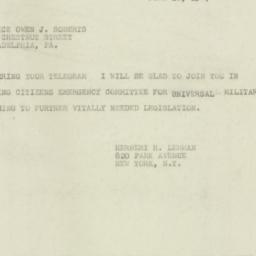 Telegram : 1947 June 10