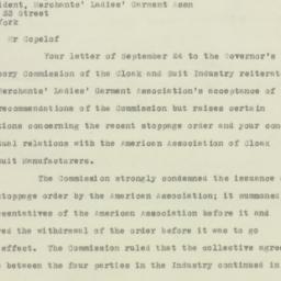 Letter : 1925 October 1