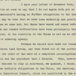 Letter : 1925 November 27