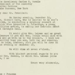 Letter : 1949 November 17