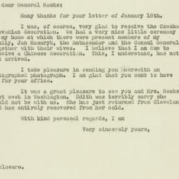 Letter : 1947 January 22