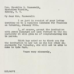 Letter: 1932 January 26