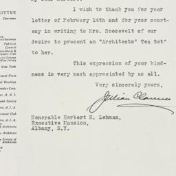 Letter : 1934 February 20