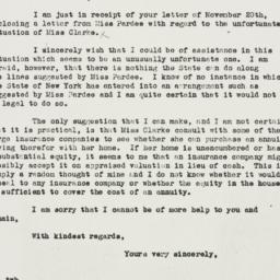 Letter: 1935 November 23