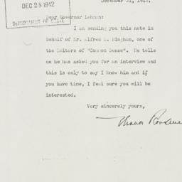 Letter: 1942 December 21