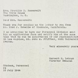 Letter: 1944 July 10