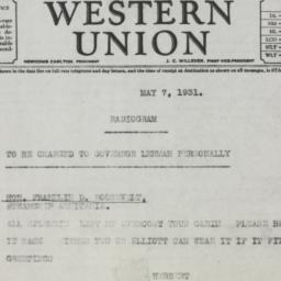 Telegram: 1931 May 7