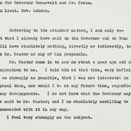 Memorandum: 1932 May 9