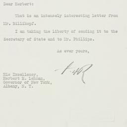 Letter: 1933 September 27