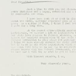 Letter: 1933 December 23
