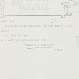 Telegram: 1933 December 24
