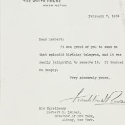 Letter: 1934 February 7