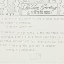 Telegram: 1935 January 1