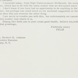 Letter: 1935 November 8