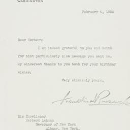 Letter: 1936 February 4