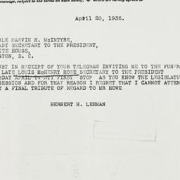 Telegram: 1936 April 20