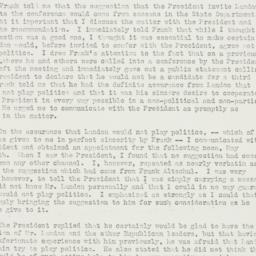 Memorandum: 1936 May 31