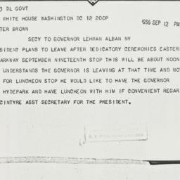 Telegram: 1936 September 12
