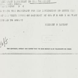 Telegram: 1937 March 2