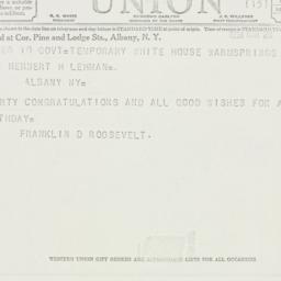Telegram: 1938 March 28