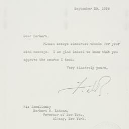 Letter: 1938 September 29