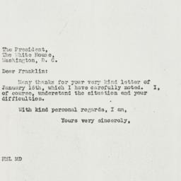 Letter: 1939 January 25