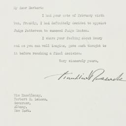 Letter: 1939 February 10