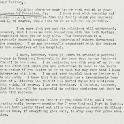 Letter: 1939 July 15