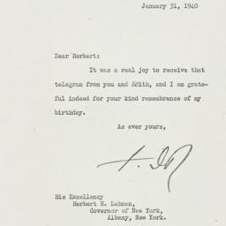 Letter: 1940 January 31