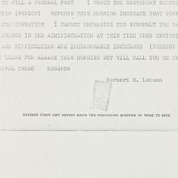 Telegram: 1940 May 23
