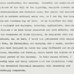 Press Release: 1940 November 6