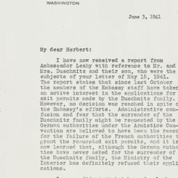 Letter: 1941 June 3