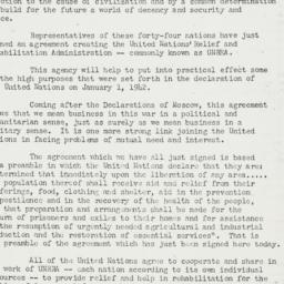Press Release: 1943 November 9